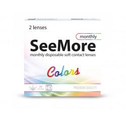 SeeMore Colors 2 szt - Nowość. (Moc zerowa) Wyprzedaż koloru brown.